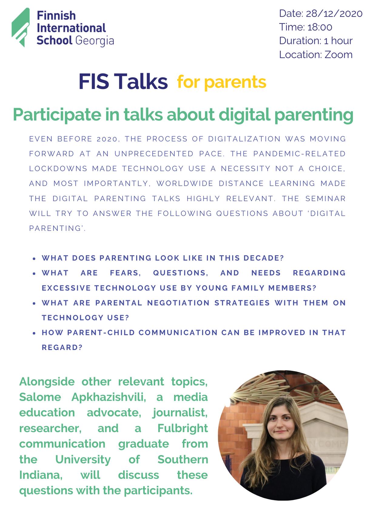 Invitation Fis Talks x Parents